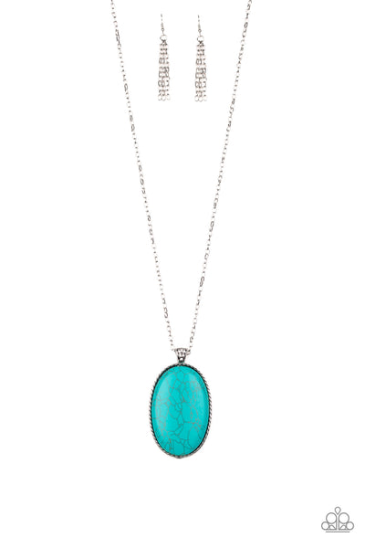 Paparazzi Accessories - Stone Stampede - Blue Necklace Set - JMJ Jewelry Collection