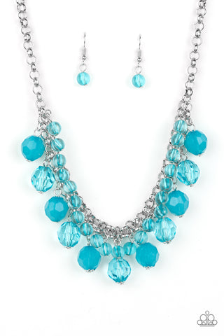 Paparazzi Accessories - Fiesta Fabulous - Blue Necklace Set