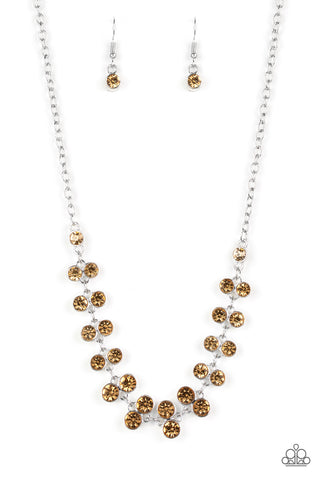 Paparazzi Accessories - Super Starstruck - Brown Necklace - JMJ Jewelry Collection