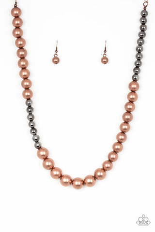 Paparazzi Accessories - Power To The People - Copper Necklace Set - JMJ Jewelry Collection