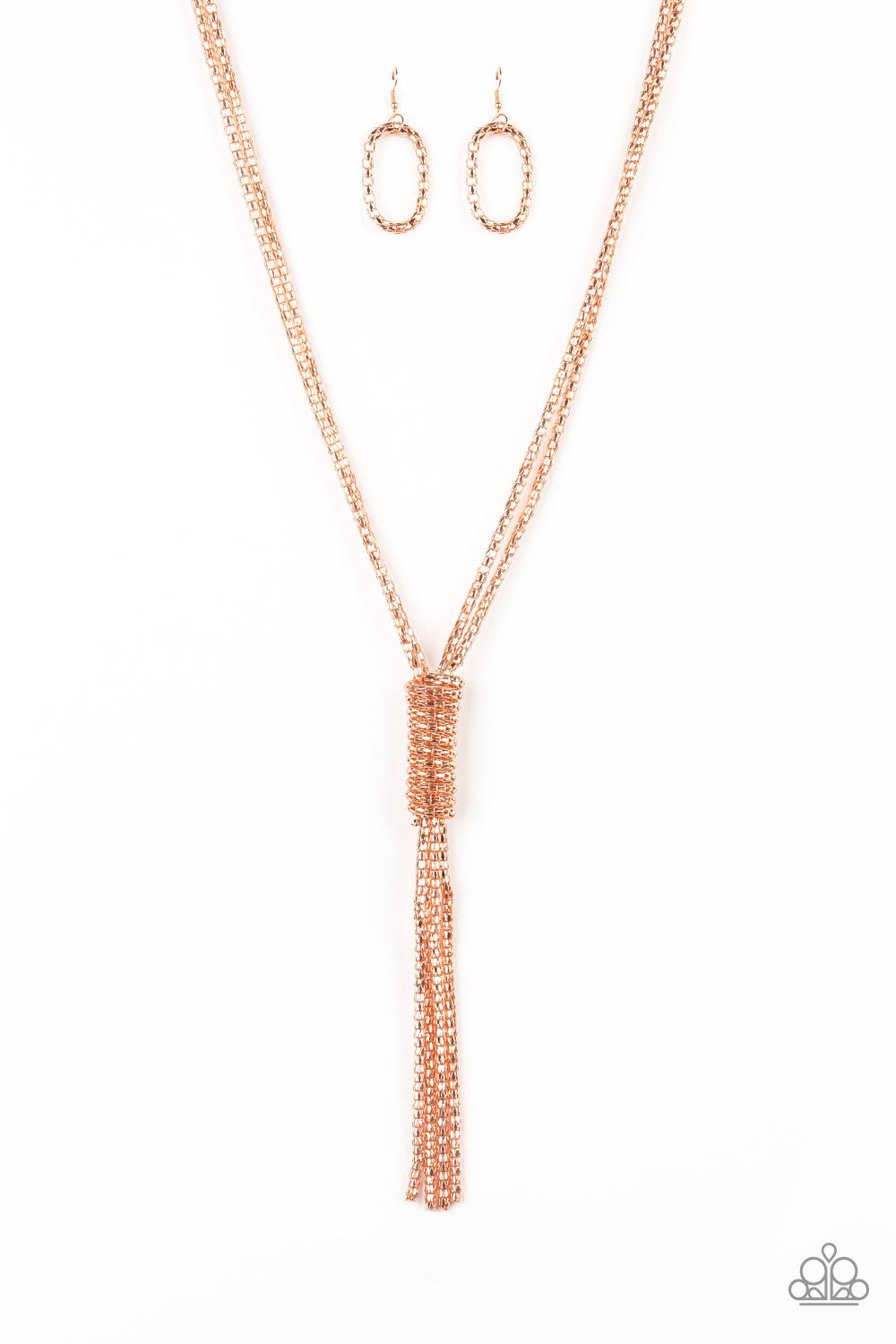 Paparazzi Accessories - Boom Boom Knock You Out - Copper Necklace Set - JMJ Jewelry Collection