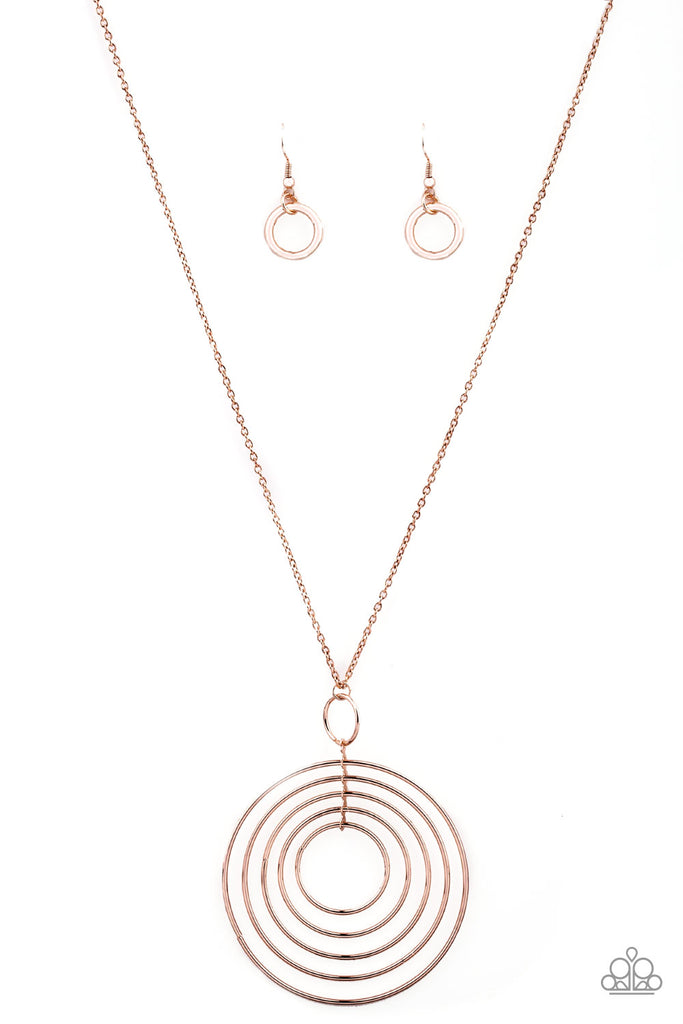Paparazzi Accessories Running Circles In My Mind Rose Gold Necklac Jmj Jewelry Collection