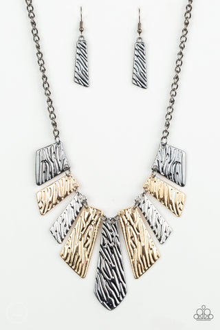 Paparazzi Accessories - Texture Tigress - Multicolor Necklace Set - JMJ Jewelry Collection