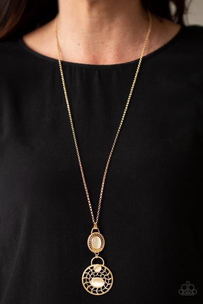 Paparazzi Accessories - Hook, VINE, and Sinker - Gold Necklace Set - JMJ Jewelry Collection