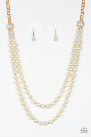 Paparazzi Accessories - Endless Elegance - Gold Necklace Set - JMJ Jewelry Collection