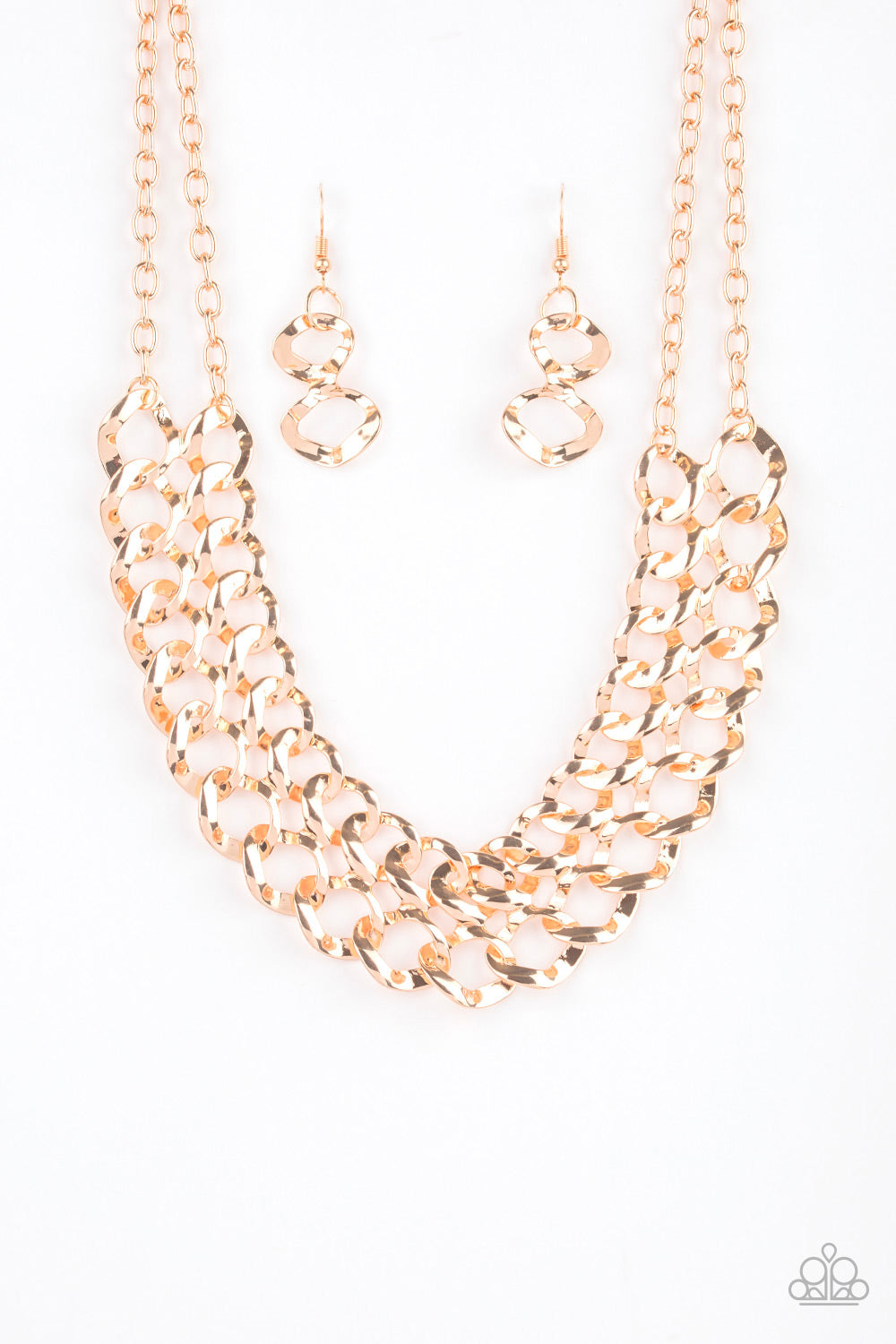 Paparazzi Accessories - Street Meet and Greet - Gold Necklace Set - JMJ Jewelry Collection