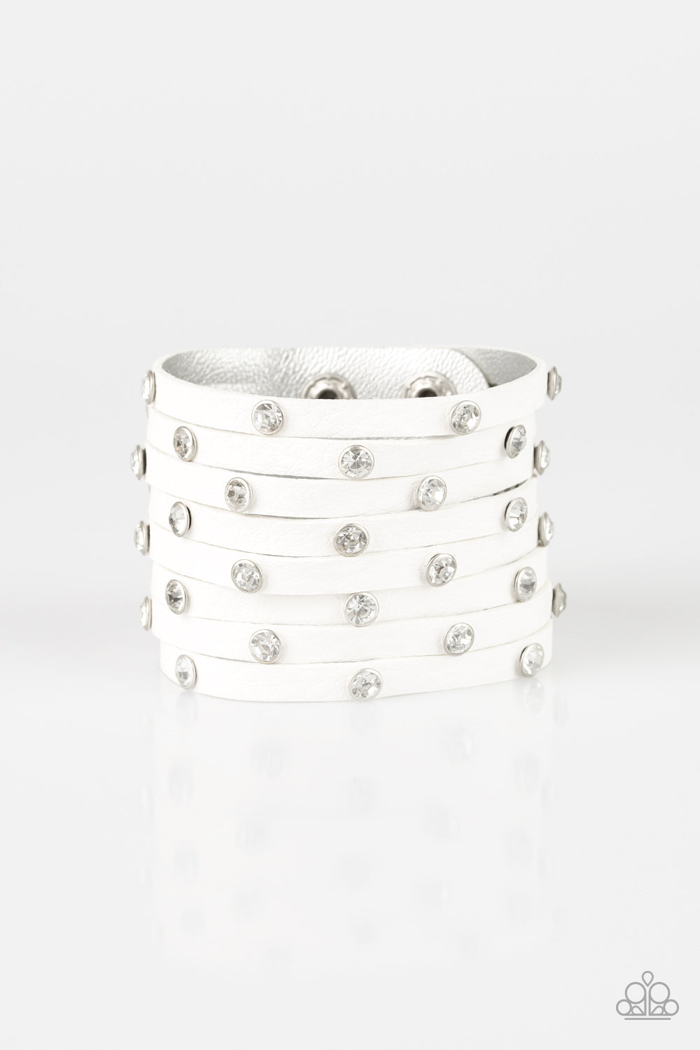 Paparazzi Accessories - Sass Squad - White Bracelet - JMJ Jewelry Collection