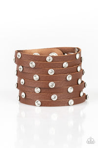 Paparazzi Accessories - Sass Squad - Brown Wrap Bracelet - JMJ Jewelry Collection