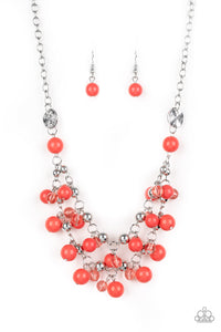 Paparazzi Accessories - Seaside Soiree - Orange Necklace Set - JMJ Jewelry Collection