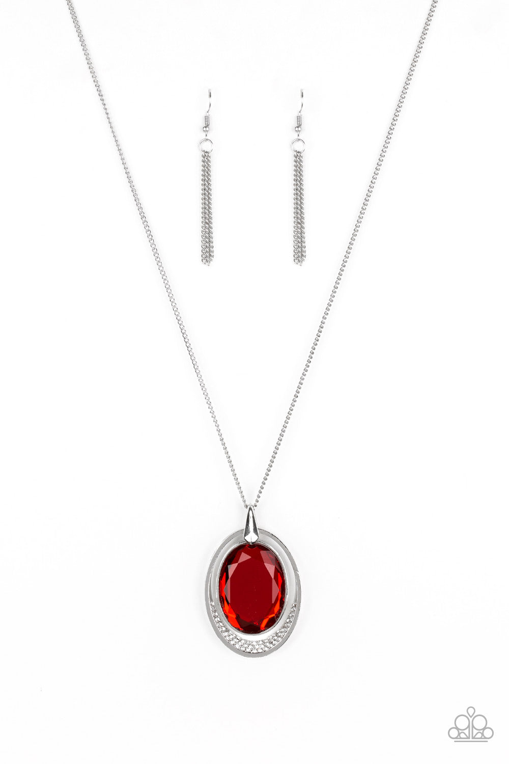 Paparazzi Accessories - Metro Must-Have - Red Necklace Set - JMJ Jewelry Collection