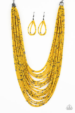 Paparazzi Accessories - Rio Rainforest - Yellow Necklace Set