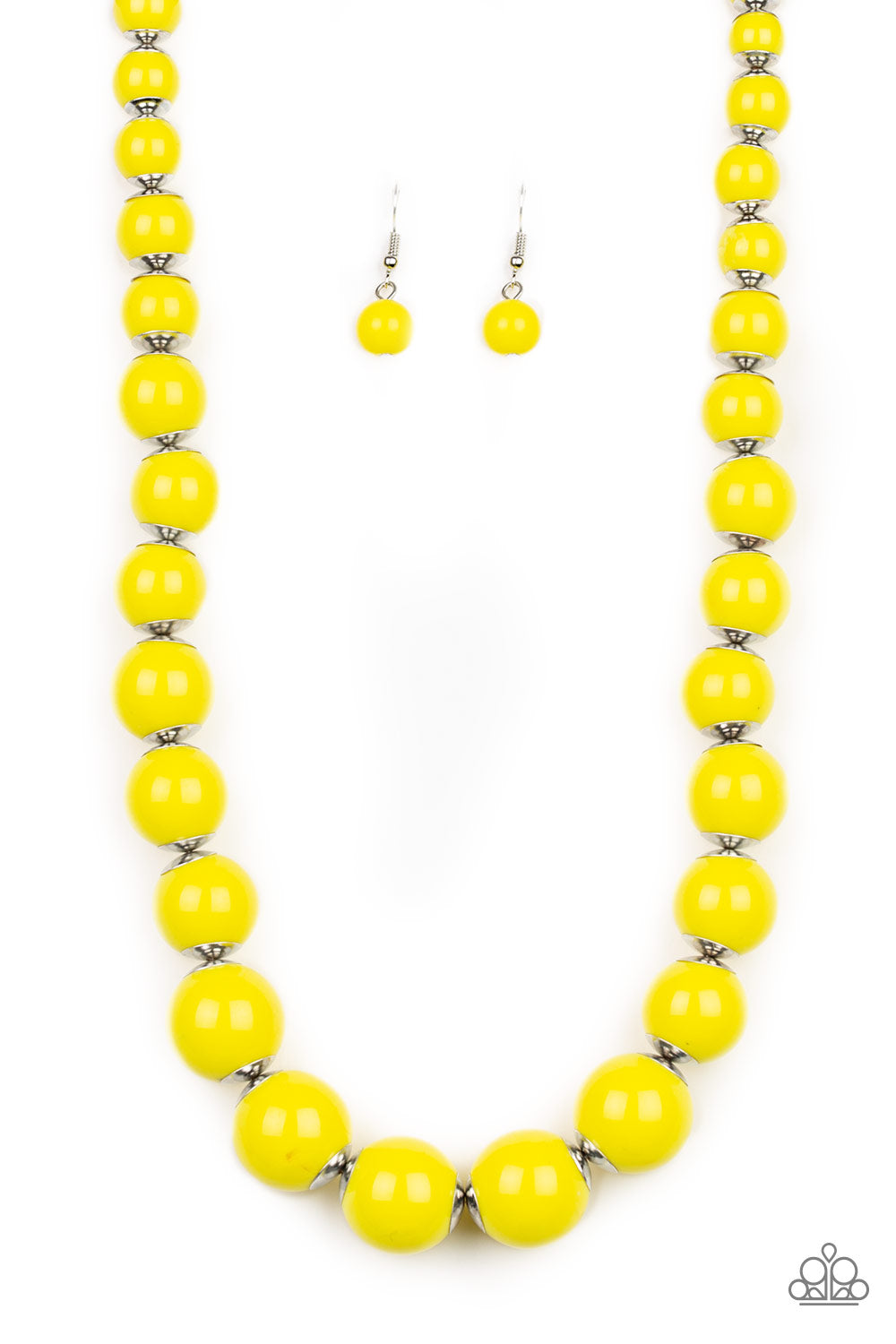 Paparazzi Accessories - Everyday Eye Candy - Yellow Necklace Set - JMJ Jewelry Collection