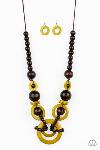 Paparazzi Accessories - Boardwalk Party - Yellow Necklace Set