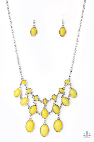 Paparazzi Accessories - Mermaid Marmalade - Yellow Necklace Set