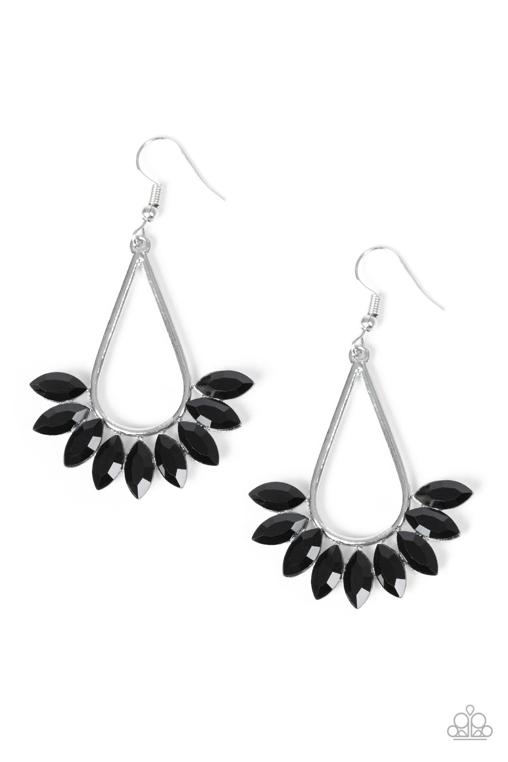 Paparazzi Accessories - Be On Guard - Black Earring - JMJ Jewelry Collection