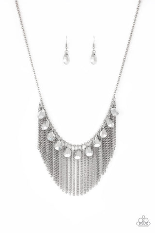 Paparazzi Accessories - Bragging Rights - Silver Necklace Set