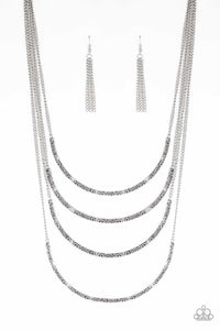 Paparazzi Accessories - It Will Be Over MOON - Silver Necklace Set - JMJ Jewelry Collection