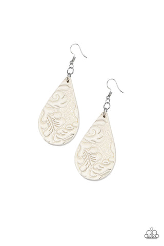 Paparazzi Accessories - Feelin Groovy - White Earrings - JMJ Jewelry Collection