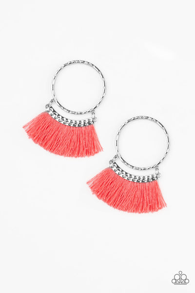 Paparazzi Accessories - This Is Sparta! - Orange Earrings - JMJ Jewelry Collection