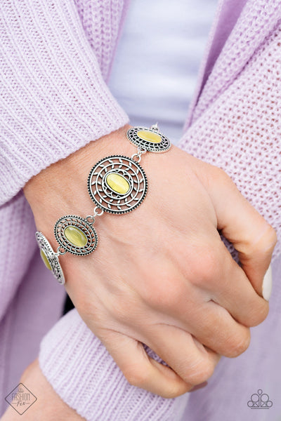 Paparazzi Accessories - Everything Is VINE - Yellow Bracelet - JMJ Jewelry Collection