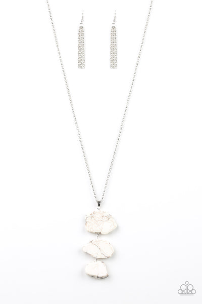 Paparazzi Accessories - On The ROAM Again - White Necklace Set - JMJ Jewelry Collection