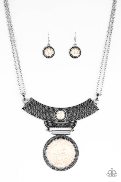 Paparazzi Accessories - Lasting EMPRESS-ions - White Necklace Set - JMJ Jewelry Collection