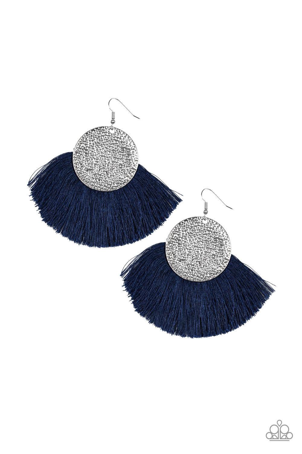 Paparazzi Accessories - Foxtrot Fringe - Blue Earrings - JMJ Jewelry Collection