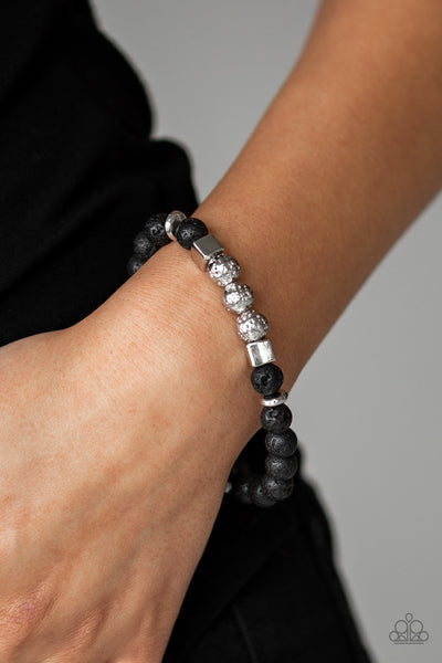 Paparazzi Accessories - SENSEI and Sensibility - Black Bracelet - JMJ Jewelry Collection