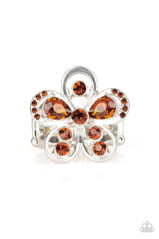 Paparazzi Accessories - Gardens Of Grandeur - Brown Ring