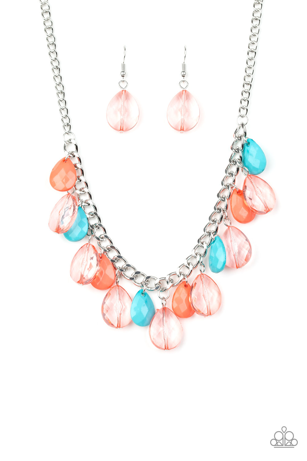 Paparazzi Accessories - Just TEAR-rific - Multicolor Necklace Set - JMJ Jewelry Collection