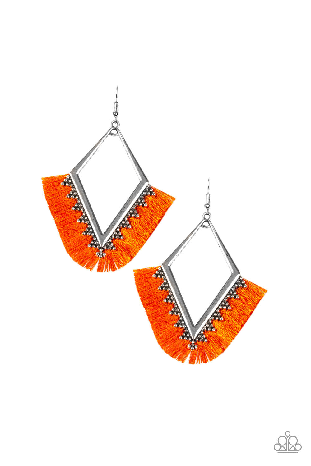 Paparazzi Accessories - When In Peru - Orange Earrings - JMJ Jewelry Collection