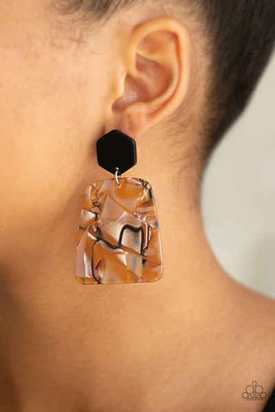 Paparazzi Accessories - Majestic Mariner - Brown Earrings - JMJ Jewelry Collection