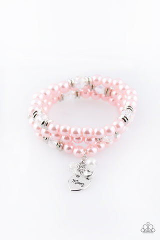 Paparazzi Accessories - Mom Wow - Pink Bracelet - JMJ Jewelry Collection