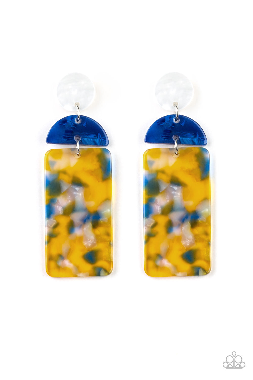 Paparazzi Accessories - HAUTE On Their Heels - Yellow Earrings - JMJ Jewelry Collection