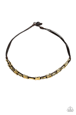Paparazzi Accessories - Moto Maverick - Brown Necklace - JMJ Jewelry Collection