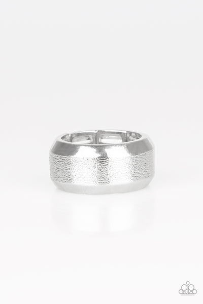 Paparazzi Accessories - Checkmate - Silver Ring - JMJ Jewelry Collection
