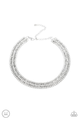 Paparazzi Accessories - Full REIGN - White Necklace Set - JMJ Jewelry Collection