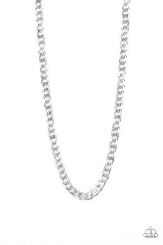 Paparazzi Accessories - The Game CHAIN-ger - Silver Necklace - JMJ Jewelry Collection