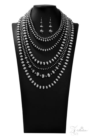 Paparazzi Accessories - Instinct - Gunmetal Necklace Set