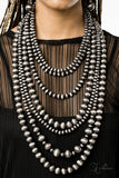 Paparazzi Accessories - Instinct - Gunmetal Necklace Set - JMJ Jewelry Collection