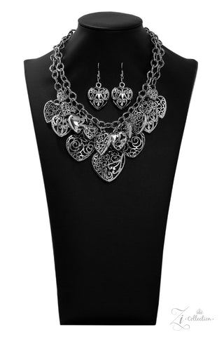 Paparazzi Accessories - Cherish - Silver Necklace Set
