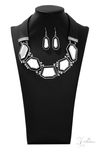 Paparazzi Accessories - Rivalry - White Necklace Set