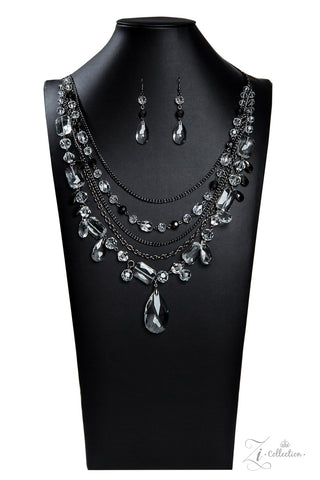 Paparazzi Accessories - Prismatic - Hematite Necklace Set