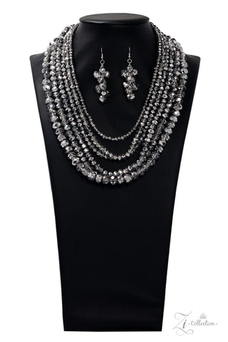 Paparazzi Accessories - Knockout - Hematite Necklace Set - JMJ Jewelry Collection