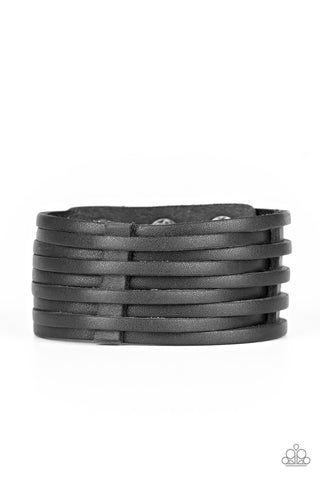 Paparazzi Accessories - The Starting Lineup - Black Bracelet - JMJ Jewelry Collection