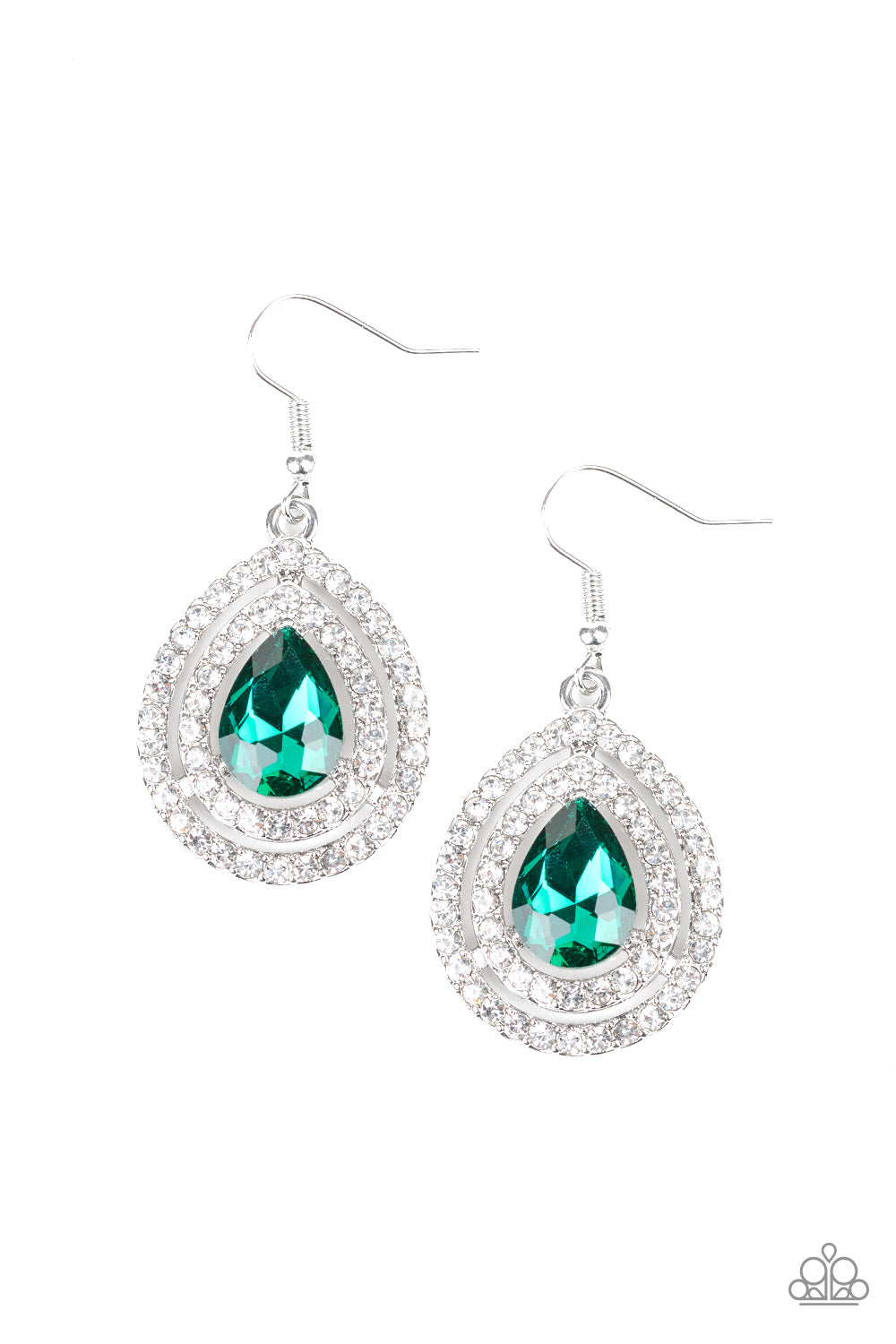 Paparazzi Accessories - Millionaire Debonair - Green Earrings - JMJ Jewelry Collection