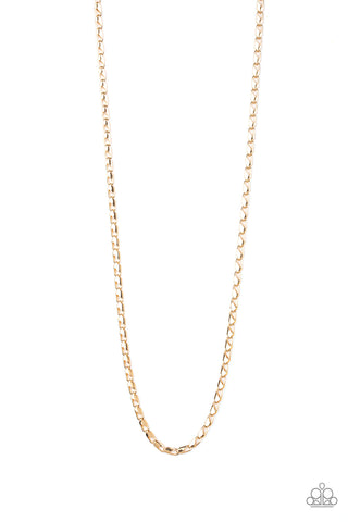 Paparazzi Accessories - Free Agency - Gold Necklace - JMJ Jewelry Collection