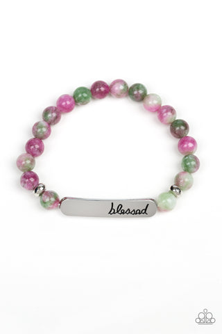 Paparazzi Accessories - Simply Blessed - Purple Bracelet