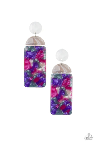 Paparazzi Accessories - HAUTE On Their Heels - Purple Earrings - JMJ Jewelry Collection