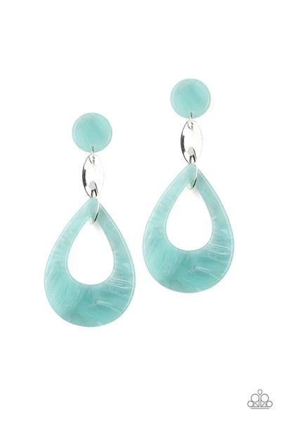 Paparazzi Accessories - Beach Oasis - Blue Earrings - JMJ Jewelry Collection